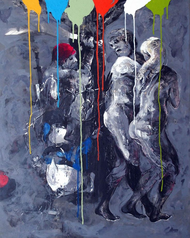 Janusz Tyrpak#Time to Albrecht Durer-Explusion from Paradise#100 x80 cm