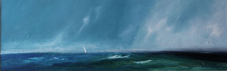 Line squall  by Scottish contemporary landscape painter J Mackintosh