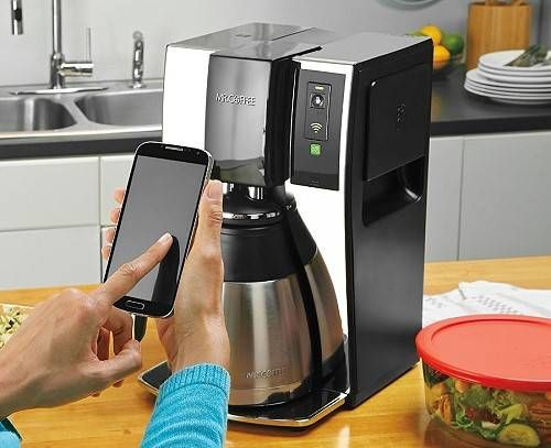 Are you a walking zombie before you have your morning cup of coffee? Now you can brew your coffee remotely using your smartphone or tablet! This WiFi enabled coffee maker can enable you to spend 7 extra minutes in bed every single day. That's over 42 extra hours in bed a year!