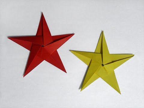 Jak zrobić: pięcioramienną gwiazdę z papieru #origami #gwiazdka # stars