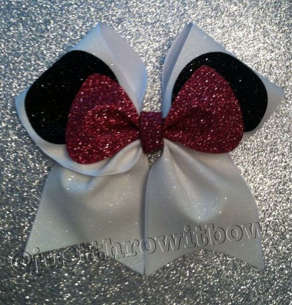 3inch BIG Cheerbow The Mouse Cheerleader Hair bow by ThrowITBows