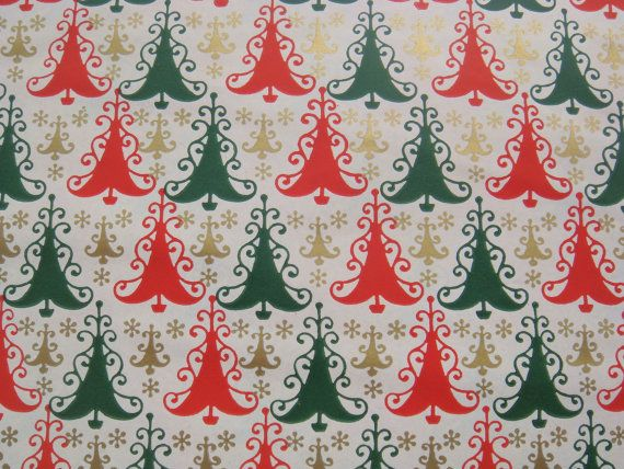 Vintage Christmas Wrapping Paper  Gift by TheGOOSEandTheHOUND