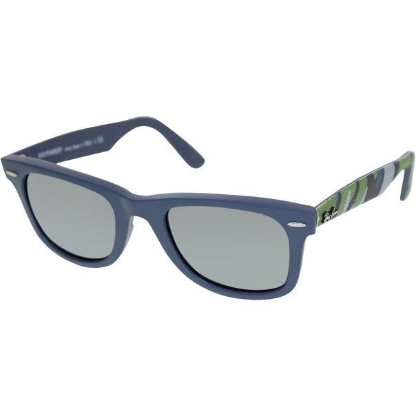 Ray-Ban Unisex-Erwachsene Sonnenbrille 901/58, Schwarz (Black/Crystal Green), 50