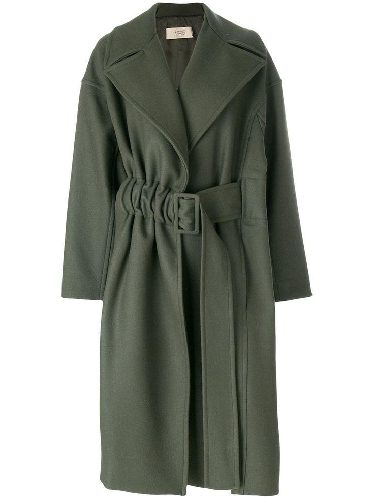Maison Flaneur свободное пальто с поясом
