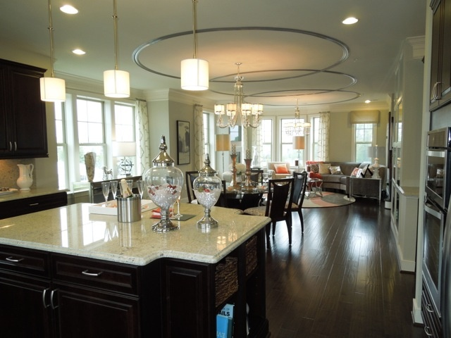 The Second Floor Is Spacious And Inviting Kitchen Dining Room Living