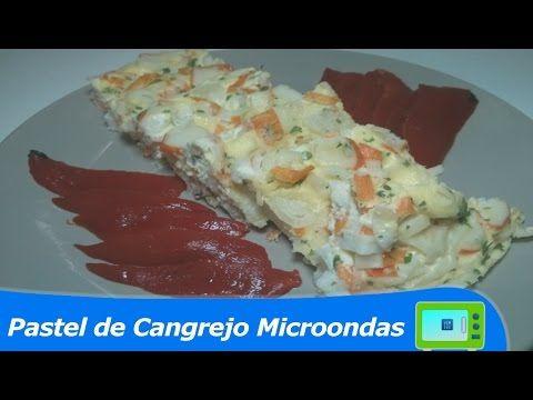 Pastel de Cangrejo al microondas   Cocinar en Microondas - YouTube