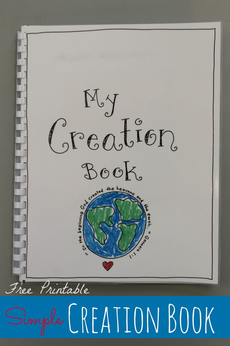 Creation Book - FREE Printable | Religion crafts/Lessons ...