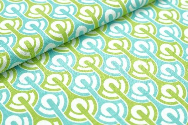 Riley Blake Baumwollstoff Baumwolle abstrakt türkis grün
