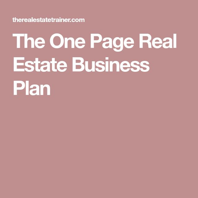 The 25+ best Real estate business plan ideas on Pinterest Real - real estate business plan template
