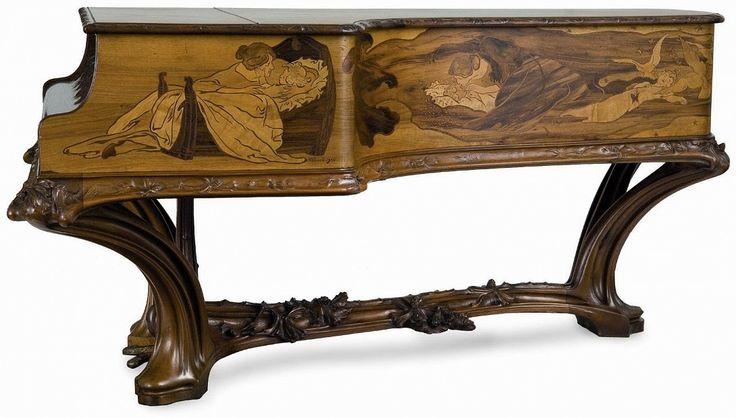 PROUVE, MAJORELLE, MAISON ERARD - Piano demi-queue - 1903 - Arts décoratifs