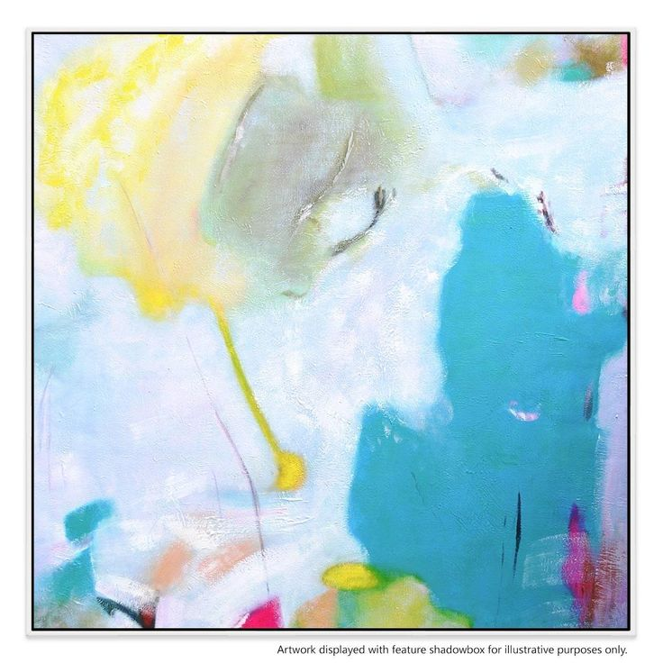 Add a dose of playful colour to your living room, bedroom or office with this abstract, contemporary portrait.