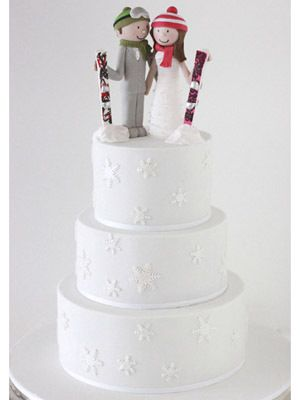 42 Best Ski Wedding Cakes Images On Pinterest