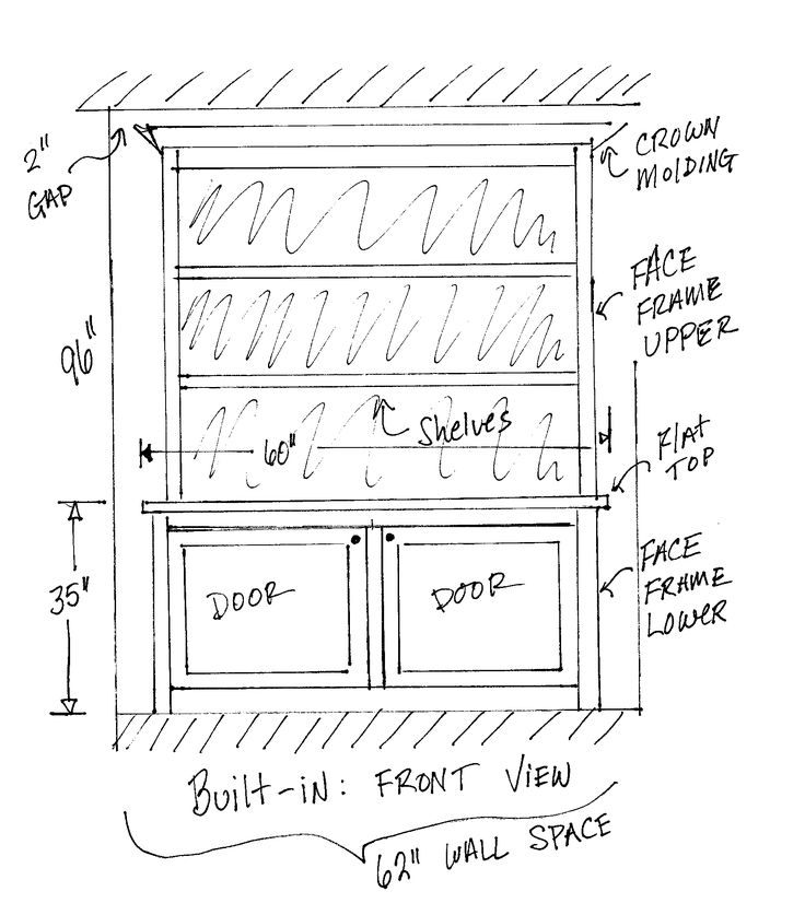 built-in cabinet