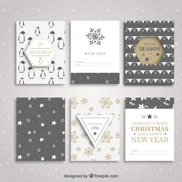 Collection de Noël et de nouvelles brochures de l'année Vecteur gratuit                                                                                                                                                     More