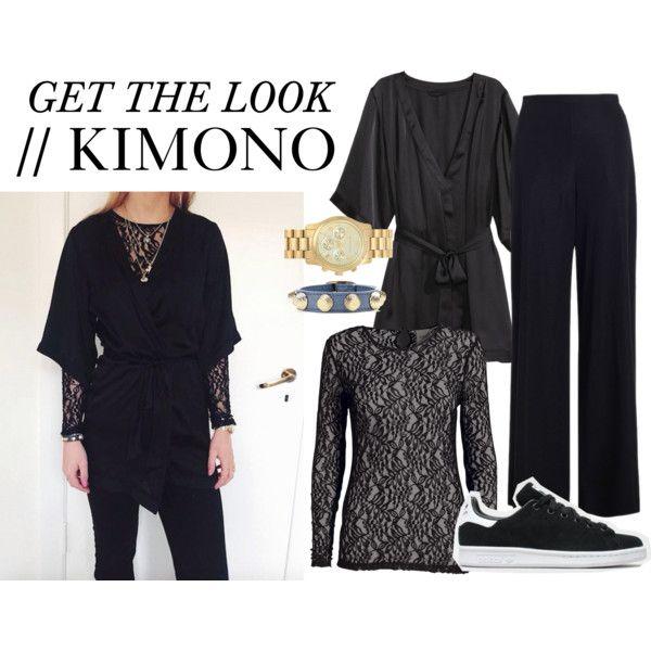 Get the look kimono by nanna-krautwald on Polyvore featuring Zimmermann, H&M, MICHAEL Michael Kors, Balenciaga and adidas