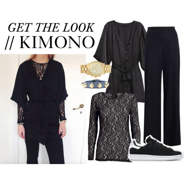 Get the look kimono by nanna-krautwald on Polyvore featuring Zimmermann, H&M, MICHAEL Michael Kors, Balenciaga and adidas