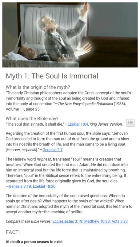 """Christian"" teachings not actually found in the Bible....Myth 1 Immortal Soul"