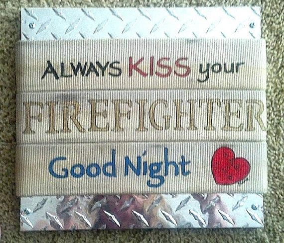 Firefighter Themed Painting on Authentic by DianaWilkinsFireHose, $45.00