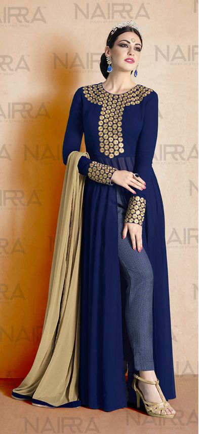 Buy Online Exclusive Designer Anarkali Suit or shuits Navy Blue Color, Georgette and Santoon material, Chiffon Dupattas, Party Wear, Ceremonial Wear, Festival Wear, kitty party wear for women, Anarkali Suits, Anarkali suit, shuits for women. We have large range of Designer Anarkali suits in our website with the best pricing and unique designs shipping to (UK, USA, India, Germany, UAE, Canada, Singapore, Australia, Mauritius, New Zealand) world wide.
