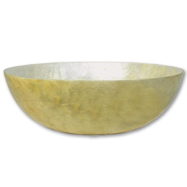 Large Cream Capiz Bowl  www.sevencolonial.com