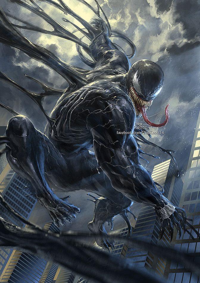 Artstation Venom Theknott Tarasilp Venom Comics Marvel Artwork Venom Art