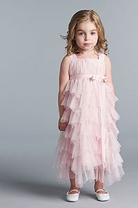 Flower girl dress - Us Angels Flower Girl Dress-SALE!- Style 124- BLUSH size 14 (1 piece available)