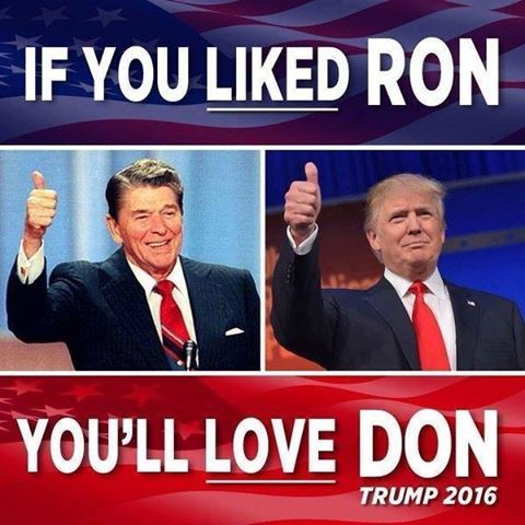 Make America Great's photo.  I Loved Ron. I Like Don. Lets hope he just as good. Actually he needs to be 300% better, if he's going to fix everything that the obamnation  ****** up.