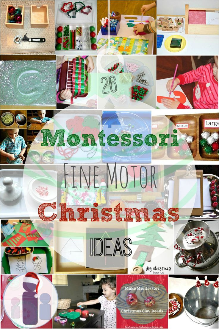 Montessori Fine Motor Christmas Ideas Kids Activities DIY via Racheous - Lovable Learning