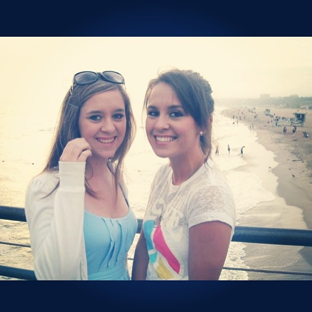 #tbt to our first time at Santa Monica Pier when we were 15.
