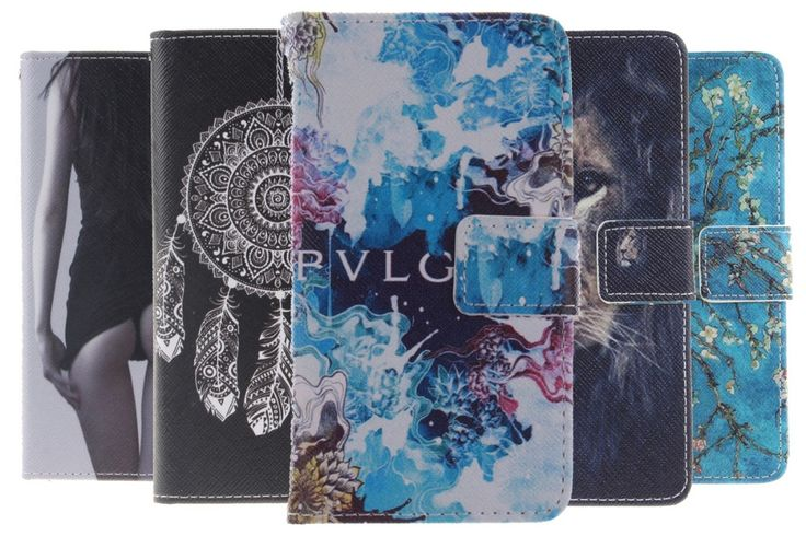 Pattern Cell Phone Cases Wallet Leather Flip Case Cover For LG G3 G2 LG G5 G4 Leon K4 K8 K10 LG V10 LG G4 Stylus LS775