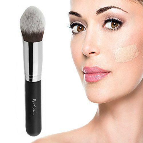 Meilleur Concealer et Corrector pinceau de maquillage – Contournage piquetis Kabuki Tapered Brush – Parfait pour couvrir les cernes…
