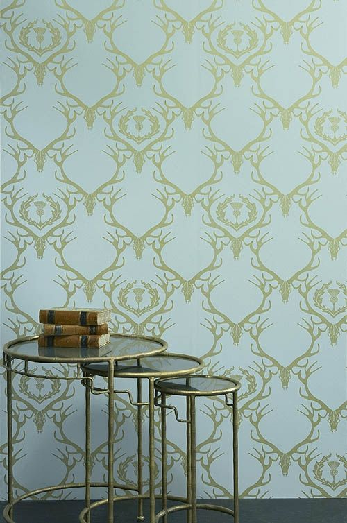gold antler wallpaper - photo #17