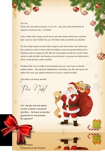 carta do pai-natal