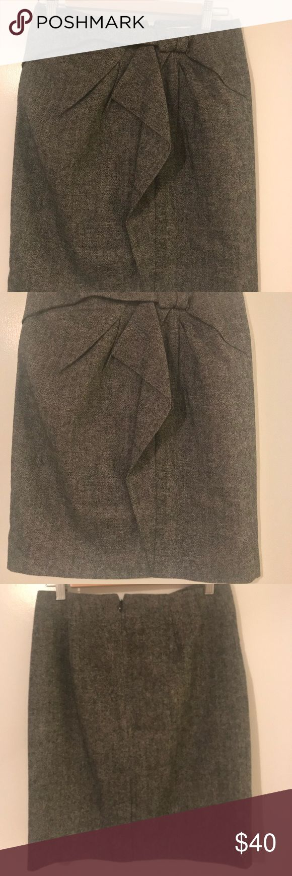 Pencil skirt (thick warm material) Pencil skirt with a structured design on the front of the skirt. Perfect for work. Banana Republic Skirts Skirt Sets