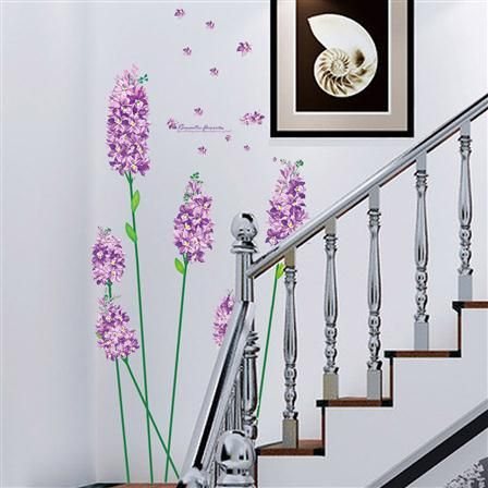 Purple Flowers Wall Stickers, Multi, $20 !!