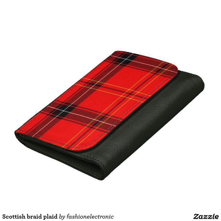 Scottish braid plaid women's wallet