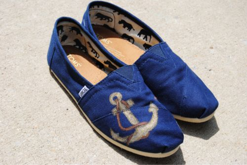 royal blue toms w/ custom anchor
