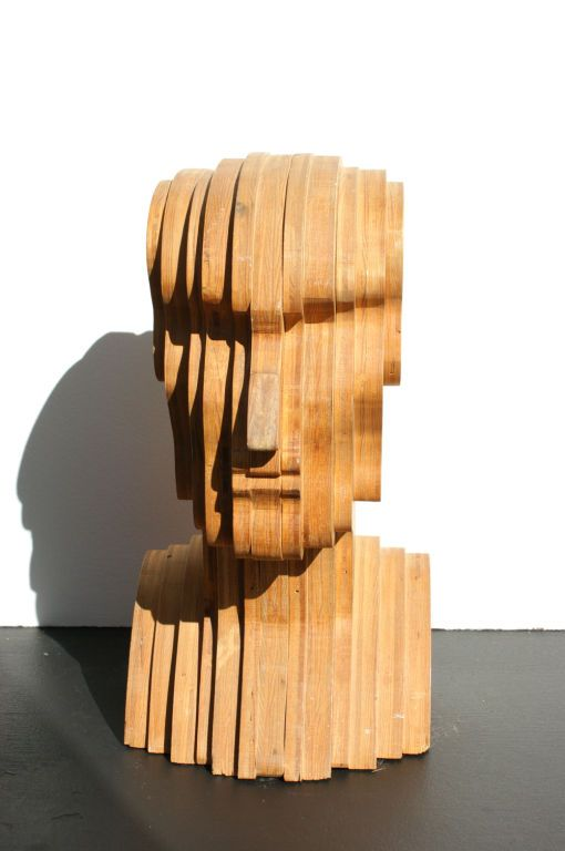 Abstract Folk Art Plywood Bust | From a unique collection of antique and modern sculptures and carvings at http://www.1stdibs.com/furniture/folk-art/sculptures-carvings/:
