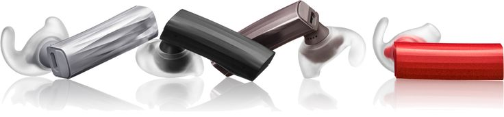 Color options for ERA by Jawbone bluetooth headsets.