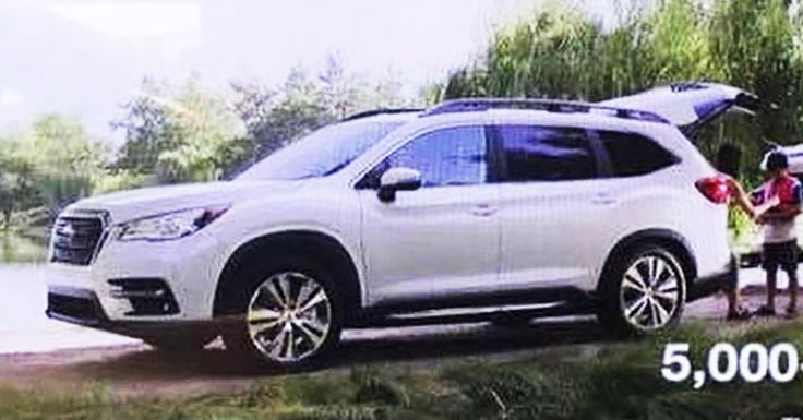 2019 Subaru Ascent: First Photo Of The Production 7-Seater SUV #LA_Auto_Show #New_Cars