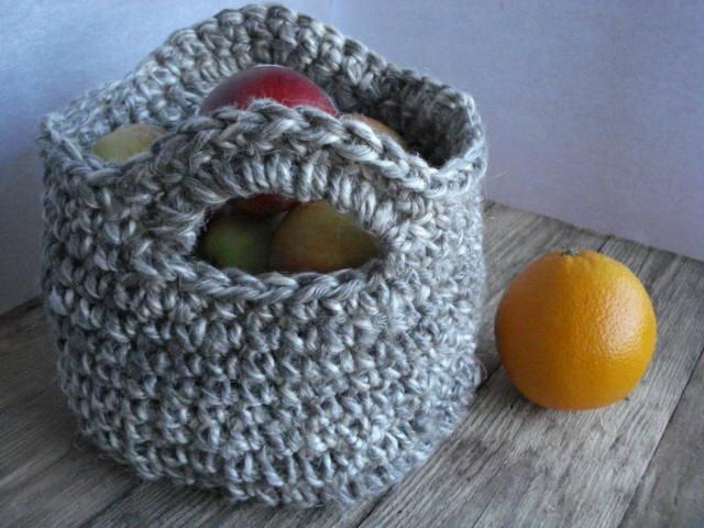 Linen rope basket