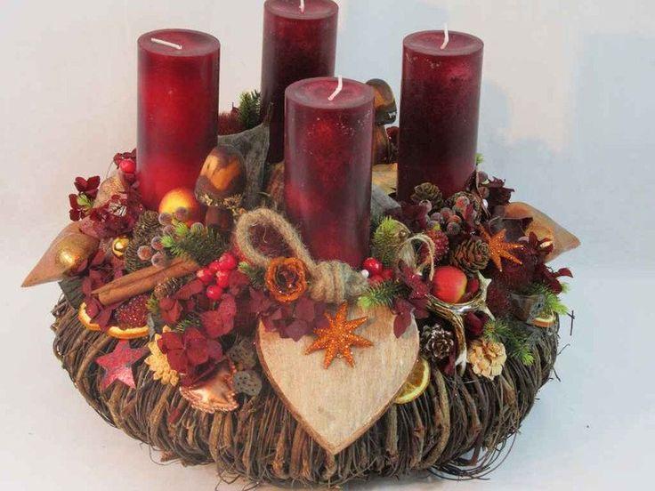 Adventskranz - Adventskranz Edle Natur XXL - ein Designerstück von fleuromantic bei DaWanda