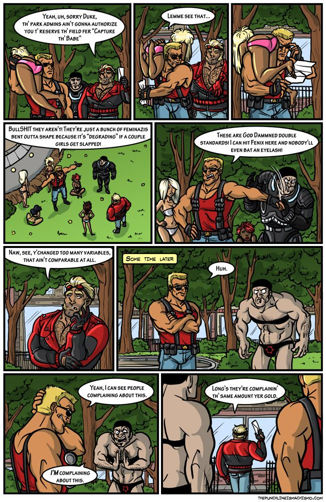 Always Contextualize The punchline is machismo Funny Comic