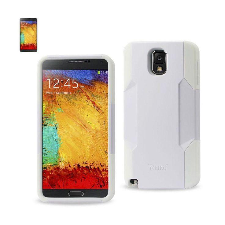 Reiko Silicon Case And Plastic Cover Samsung Galaxy Note 3 White