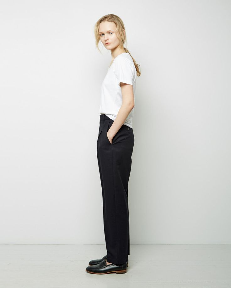 From Margaret Howell, whose utterly modern designs are the quintessence of British minimalism; a quintessential short sleeve t-shirt in super soft, Egyptian cotton.