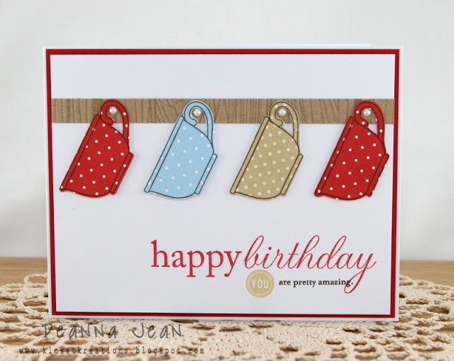 Klosest Kreations Happy Birthday Tea Cups