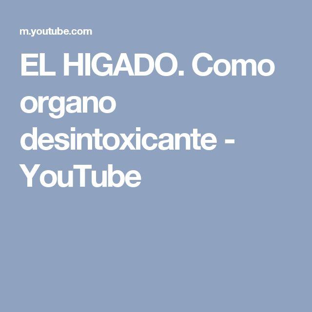 EL HIGADO. Como organo desintoxicante - YouTube