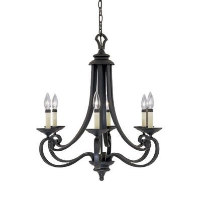 Buy the designers fountain natural iron direct shop for the designers fountain natural iron 6 light chandelier from the barcelona collection and save