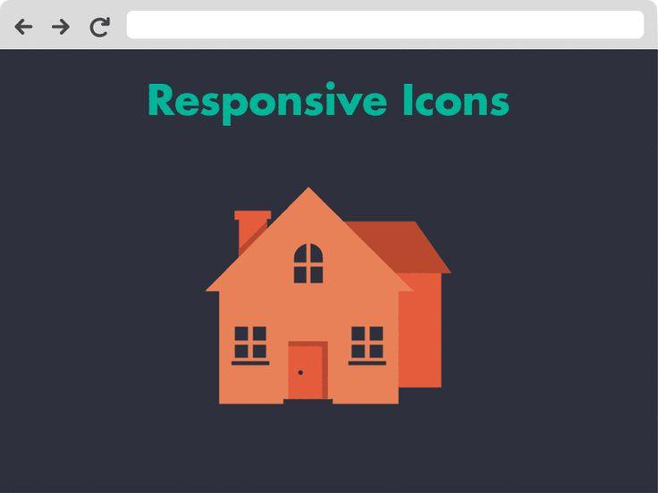 Responsive Icons.  responsiveicons.co.uk