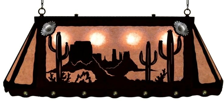 Desert Cactus Kitchen Island Bar or Pool Table Light, southwest Desert Cactus light, southwest Kitchen Island lighting, Bar lighting, Pool Table Light, southwestern decor, ironwood industries american made usa